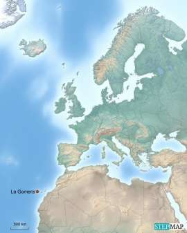Europa Karte mit Reisezielen