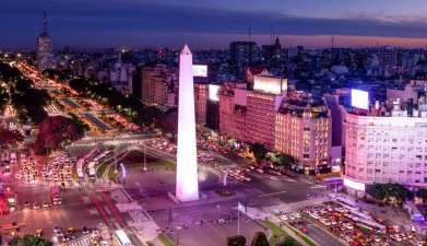 Stadtrundfahrt Buenos Aires am Abend