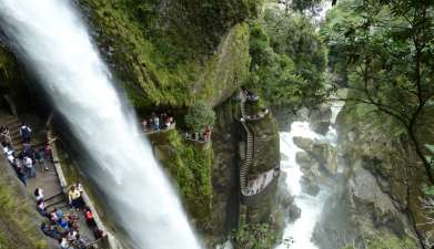 Besuch des Wasserfalls Pailón del Diablo