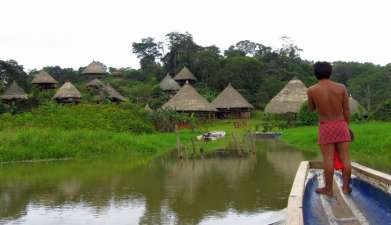 Besuch eines Embera Dorfes