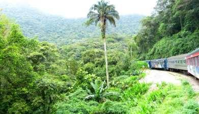 Zugfahrt mit dem Trem da Serra do Mar