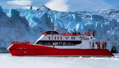 Bootsfahrt zum Grey Gletscher