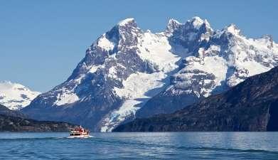 Bootsfahrt zu den Gletschern Balmaceda und Serrano