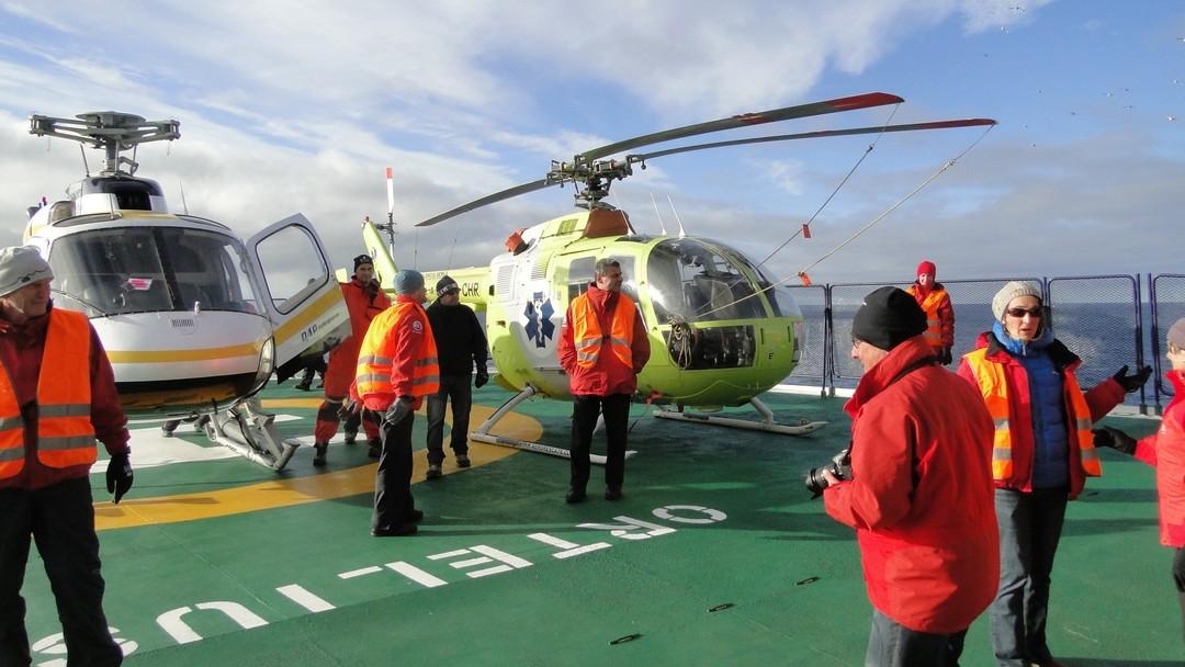 Tag 4 bis 7: Erkundung des Weddellmeeres / Helikopterflüge