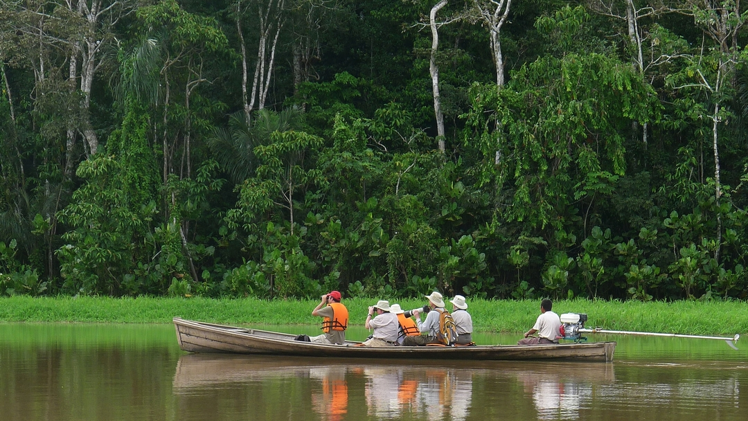 Tag 2 Leticia: Bootsfahrt ins Naturreservat Calanoa und Erkundungen