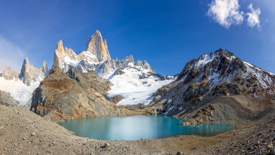 Tag 2 Trekking El Chaltén- Laguna de los Tres- Laguna Capri- Camp Poincenot