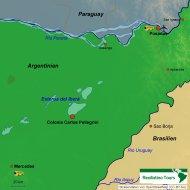 Karte Reiseverlauf Estancia Posadas + Iberá