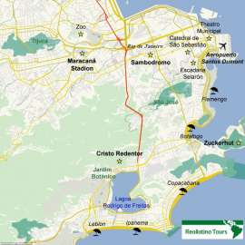 Reisekarte Entdecken Sie die feurige Weltmetropole Rio de Janeiro!