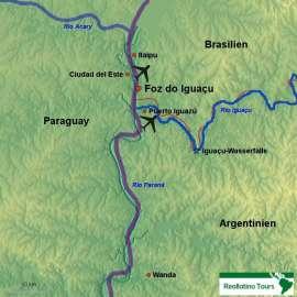Reisekarte Erleben Sie die faszinierenden Iguaçu-Wasserfälle!