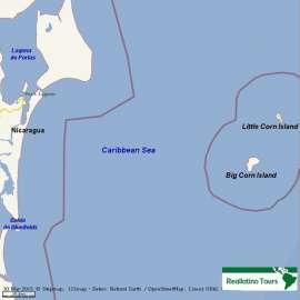 Reisekarte Corn Islands- Nicaraguas Karibik Paradies und Geheimtipp