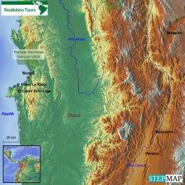 Reisekarte Willkommen in einer der besten Ecolodges Südamerikas!