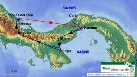 Reisekarte Flexibel und individuell - Entdecken Sie Panama im Mietwagen