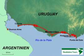 Reisekarte Lohnt sich eine Reise nach Uruguay?