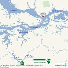 Reisekarte Eine Reise nach Manaus und in den Amazonas Urwald