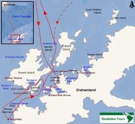 Reisekarte Entdecken Sie die Antarktis auf einer Reise mit der MS Plancius