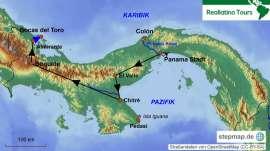 Reisekarte Gemeinsam das exotische Panama entdecken