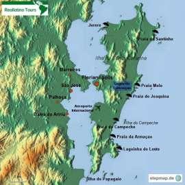 Reisekarte Erleben Sie die Inselstadt Florianópolis mit den schönsten Stränden Brasiliens!