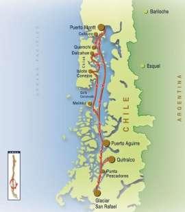 Reisekarte Traumhafte Schiffsreise zum Gletscher San Rafael