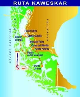 Reisekarte Traumhafte Schiffsreise mit der MS Skorpios III zum südlichen Eisfeld
