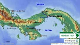 Reisekarte Entdecken Sie Panama flexibell und individuell
