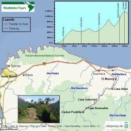 Reisekarte Ciudad Perdida –Trekking in die Vergangenheit Kolumbiens
