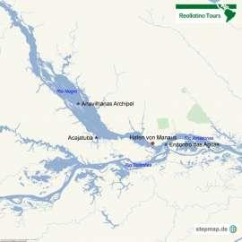Reisekarte Der authentischste Weg den Amazonas kennenzulernen