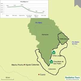 Reisekarte Eine Reise in den Urwaldschatz Perus