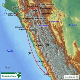 Reisekarte So alt und doch so unbekannt - Perus Schätze des Nordens