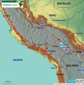 Reisekarte Erst der Lima Marathon und danach eine ganz tolle Laufreise