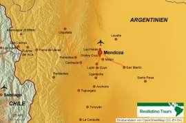 Reisekarte Mendoza und Umgebung- eine Reise für Genießer