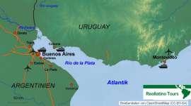 Reisekarte Fast jede Argentinien Reise beginnt in Buenos Aires