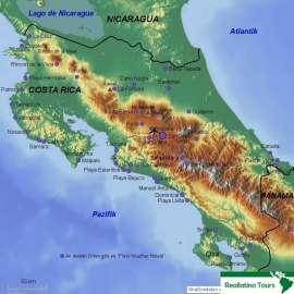 Reisekarte Entdecken Sie Costa Rica flexibel und individuell