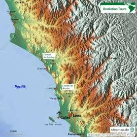Reisekarte Lima ist der ideale Ausgangspunkt Ihrer Peru Reise
