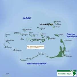 Reisekarte Genießen Sie die Karibik Venezuelas auf der Inselgruppe Los Roques!