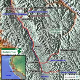 Reisekarte Die Peru Reise in die Anden