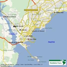 Reisekarte Panama Stadt -  Lebendige Metropole
