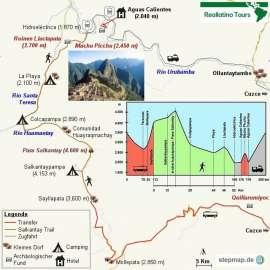 Reisekarte Salkantay Trail - viel mehr als nur Alternative zum Inka Trail!