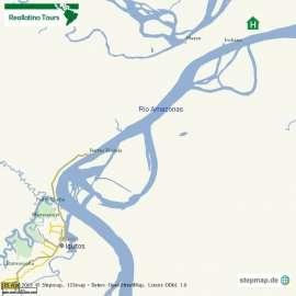 Reisekarte Iquitos als Ausgangspunkt einer Amazonas Reise in Peru