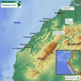 Reisekarte Tumbes in Peru: Sonne, Strand und Meer...