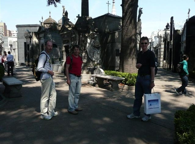 Von der Expomaraton auf den Friedhof Recoleta