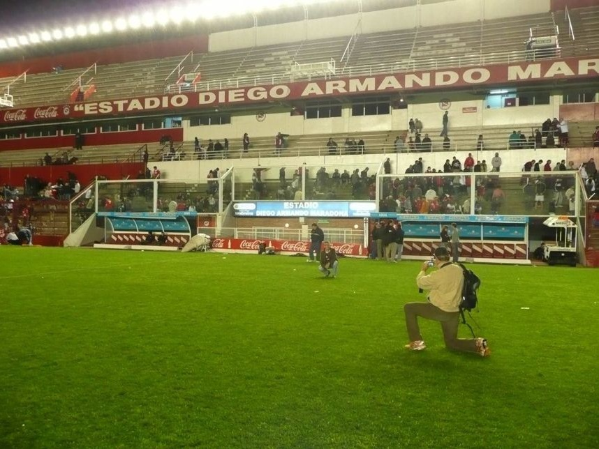 Walter Maurer und Rudi Lengl im Stadion Diego Armando Maradona