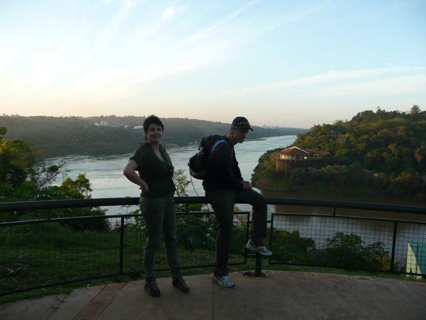 Am Drei-Länder-Eck Puerto Iguazú