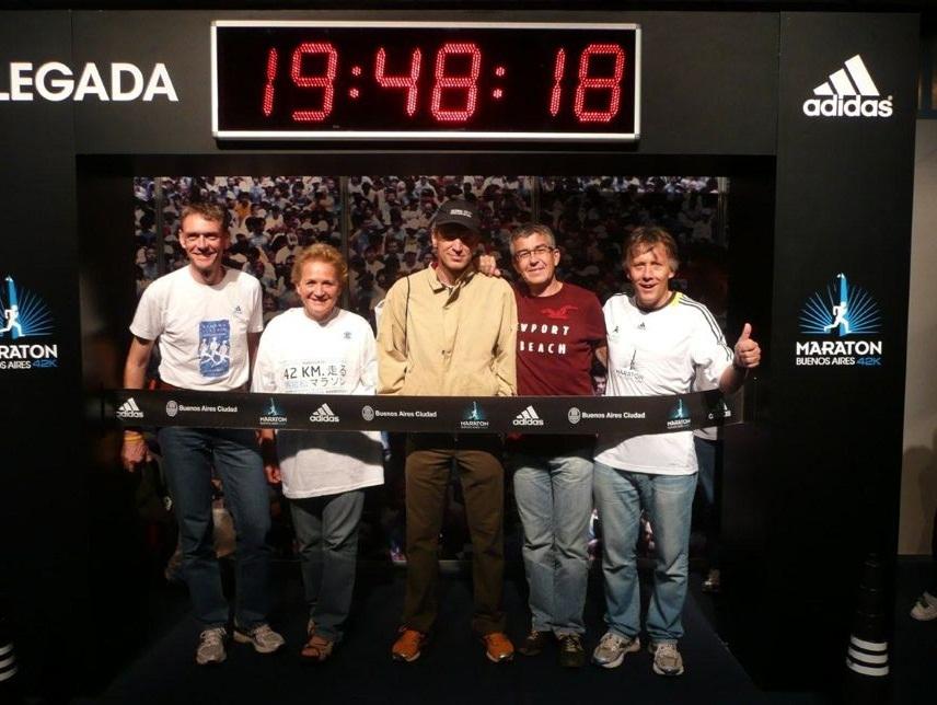 Unser Team knapp 20 Stunden vor dem Start des Buenos Aires Marathon