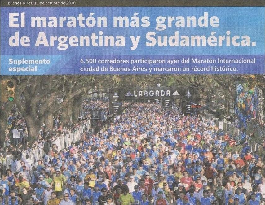 Buenos Aires Marathon in der Presse