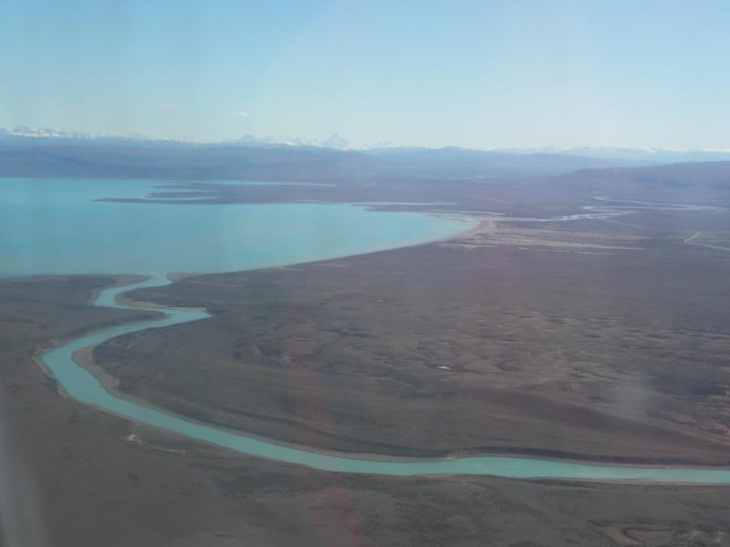 Blick auf Lago Argentino, El Calafate, Argentinien