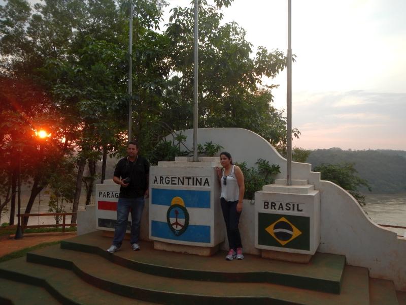 Drei-Länder-Eck in Puerto Iguazú, Argentinien