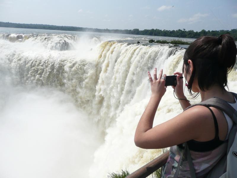 Blick auf Iguazu Wasserfällte, Puerto Iguazu, Argentinien