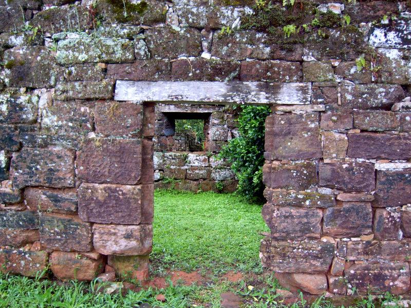 Ruinen von Sam Ignacio Mini, Puerto Iguazu, Argentinien