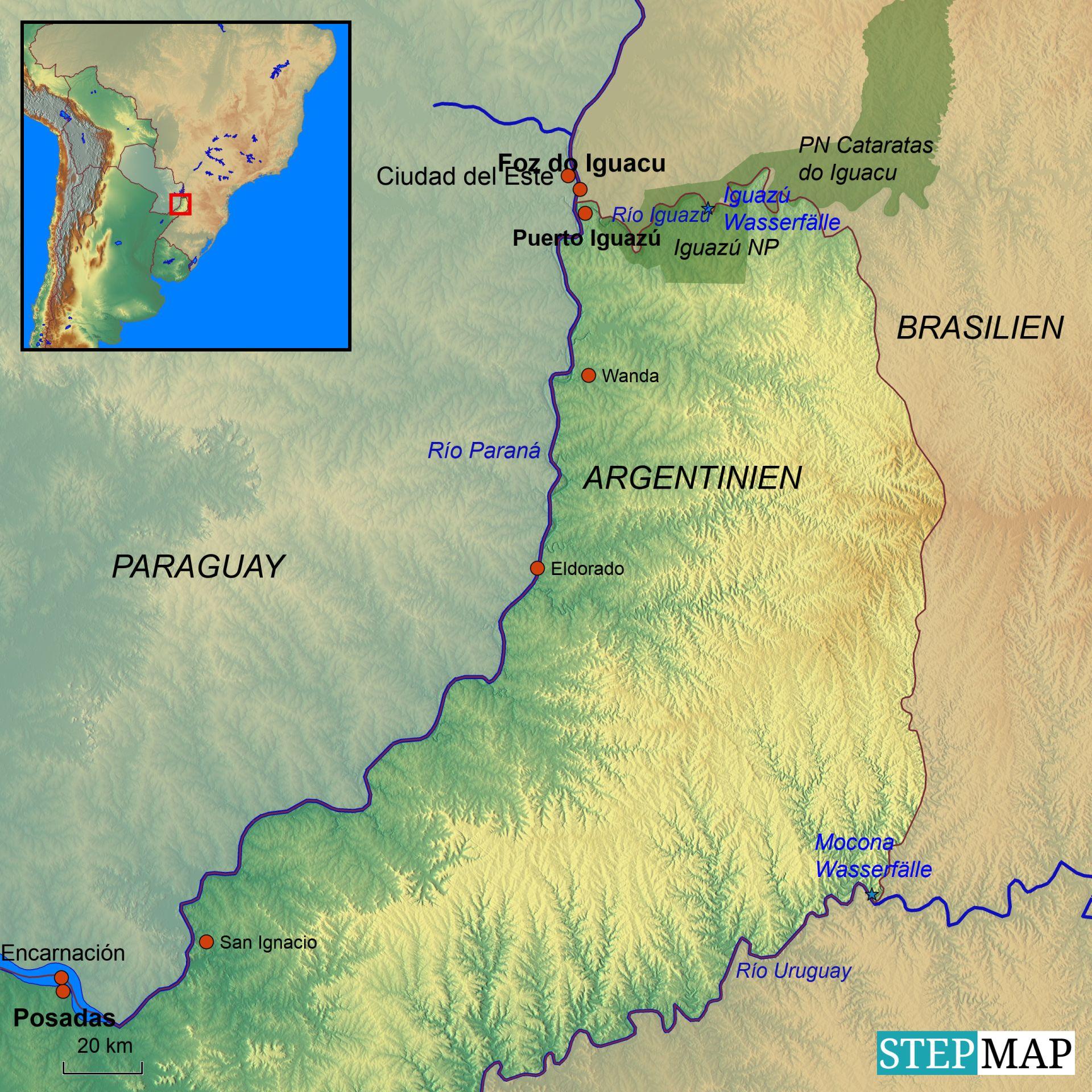 Iguazu Landkarte