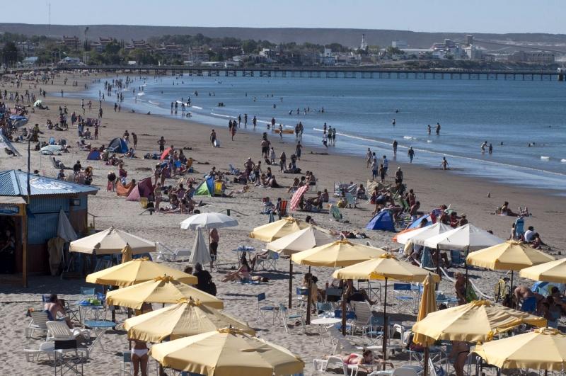 Strand in Puerto Madryn, Argentinien